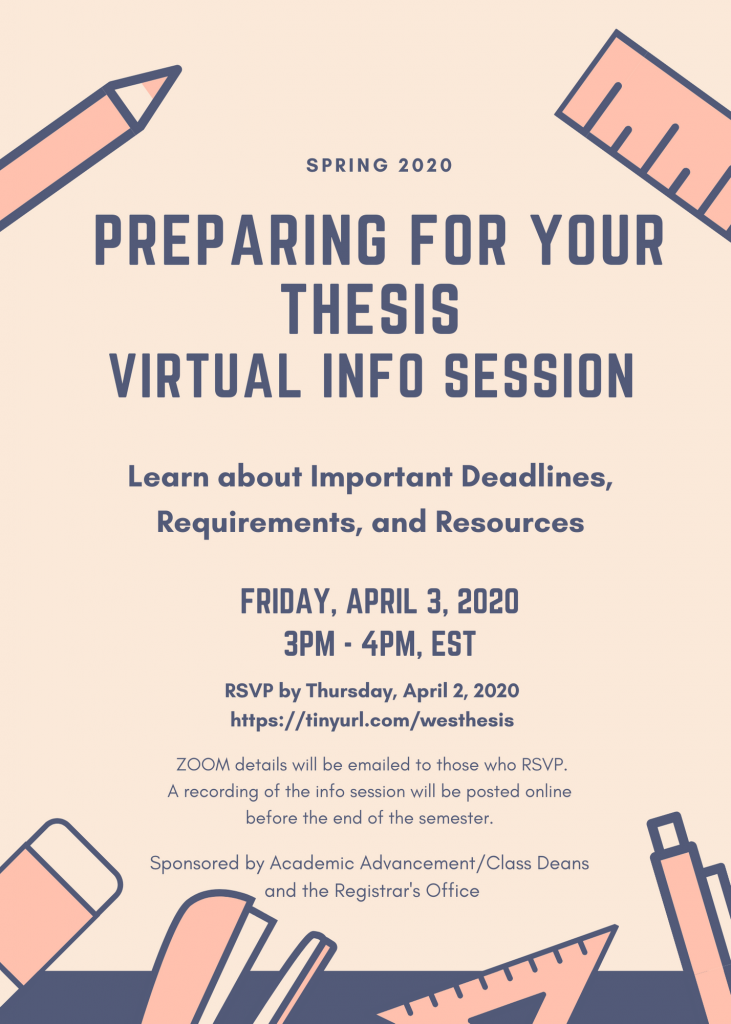 Flyer for Preparing for Your Thesis Virtual Info Session