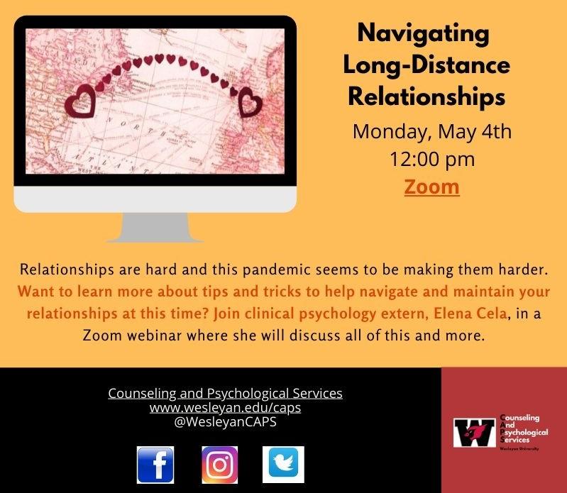 Flyer for Navigating Long-Distance Relationships