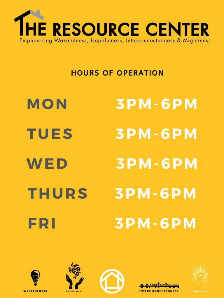 Flyer for Updated Resource Center Hours