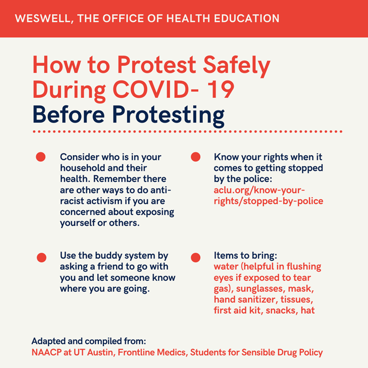 Infographic on How to Protest Safely During a Pandemic
