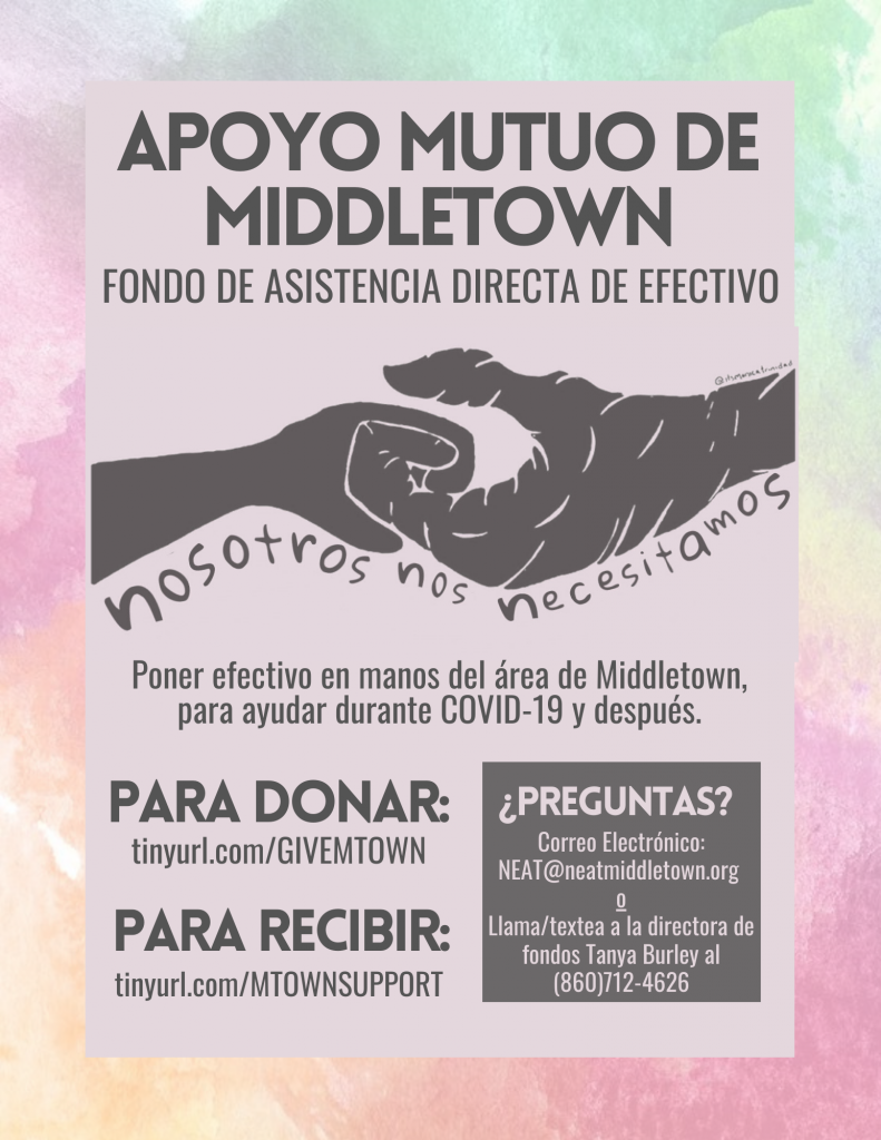 Mutual Aid Flyer in Spanish/Espanol
