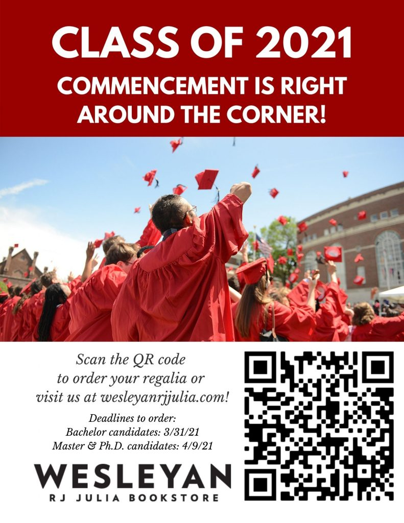 Reminder about Regalia Orders for 2021 Commencement